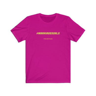 "Fantasia ""Marriage Goals Pink/Yellow Tee"""
