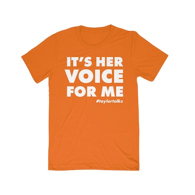 "Fantasia ""Her Voice For Me Orange/White Tee"""