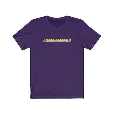 """Marriage Goals Purple/Yellow Tee"""