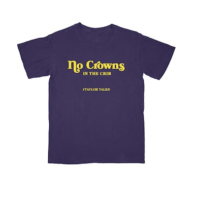 """No Crowns Purple/Yellow Tee"""