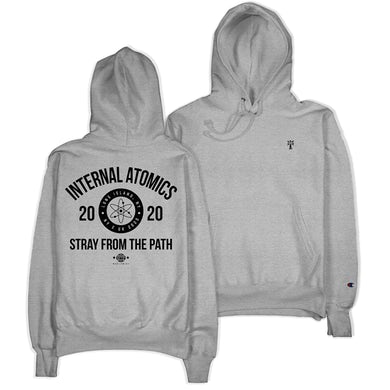 "Stray From The Path ""Internal Atomics"" Steel Gray Champion Hoodie"