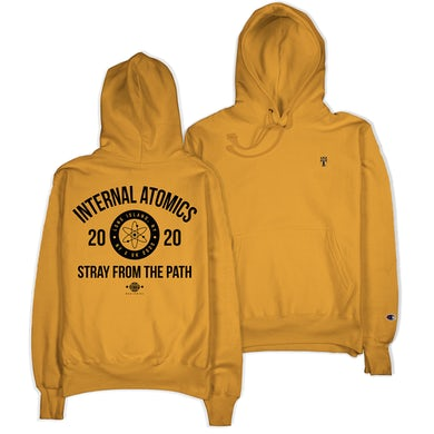 "Stray From The Path ""Internal Atomics"" Gold Champion Hoodie"