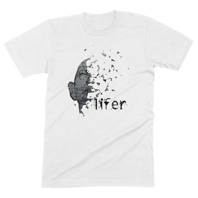 """Lifer - """"Born Again"""" Shirt in White"""