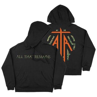 All That Remains Emblem Camo Print Black Hoodie