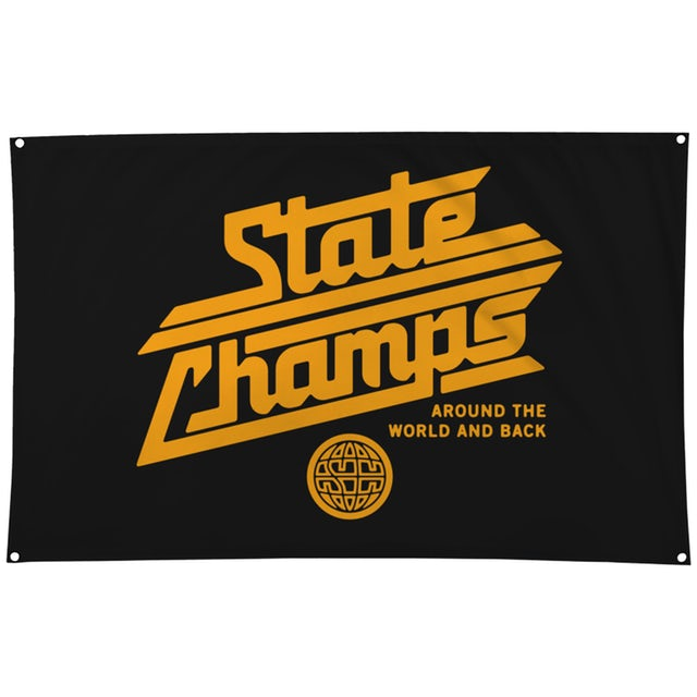 State Champs SC - Around The World Wall Flag (BLK)