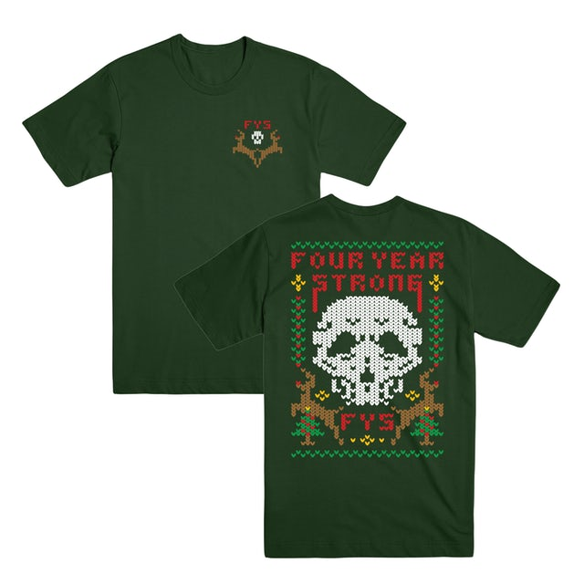 Four Year Strong FYS - X-Mas Knit Skull Tee