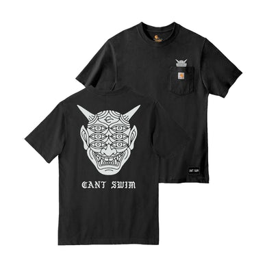 Can't Swim - Carhartt Oni Black Tee