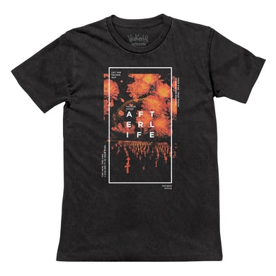 Afterlife - Faded Black Floral Grave Tee