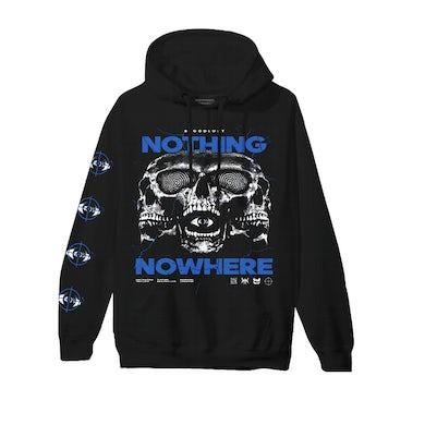 nothing,nowhere Triple Skull Hoodie