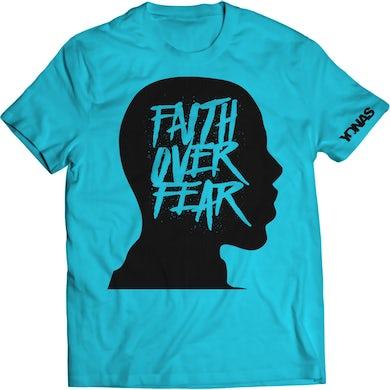 Yonas Faith Over Fear T-shirt (Blue)