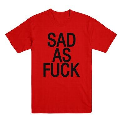Emo Nite Sad As Fuck T-Shirt - Red/Black