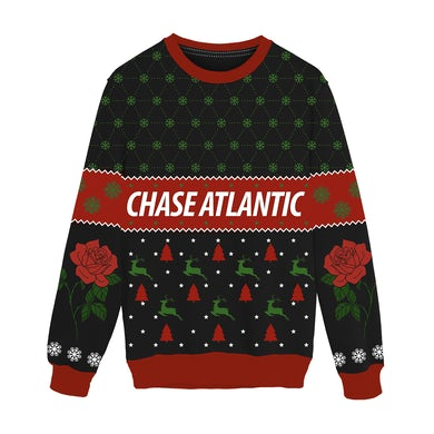 Chase Atlantic Rose Holiday Knit Sweater