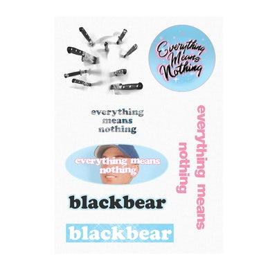 blackbear Everything Means Nothing Sticker Sheet