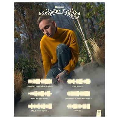 """blackbear """"Misery Lake"""" x The Wav Room Soundwave Poster"""
