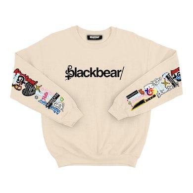 blackbear Sticker Sleeve Crewneck