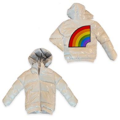 6ix9ine Trollz Men's Puffer Jacket - White