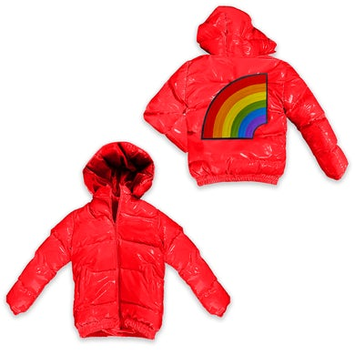 6ix9ine Trollz Men's Puffer Jacket - Red
