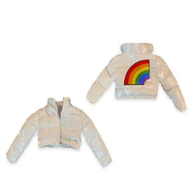 6ix9ine Trollz Women's Crop Puffer Jacket - White