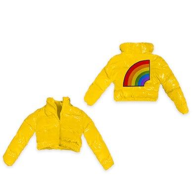 6ix9ine Trollz Women's Crop Puffer Jacket - Yellow