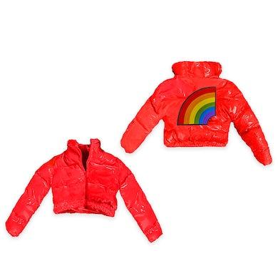 6ix9ine Trollz Women's Crop Puffer Jacket - Red