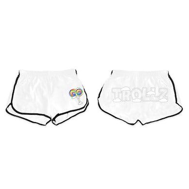 6ix9ine Trollz Relay Shorts - White