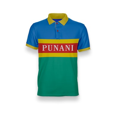 6ix9ine Punani Polo Shirt - Blue and Green