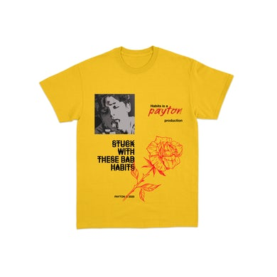 payton Habits Tee - Yellow