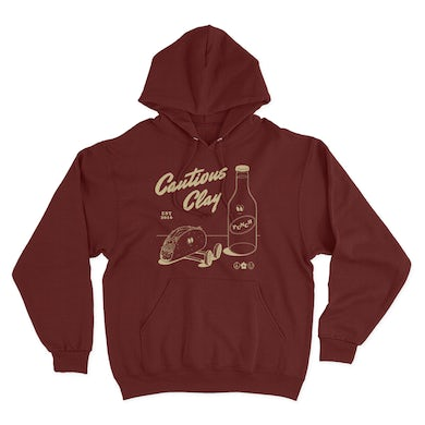 Limited Edition Tacos & Punch Hoodie - Maroon