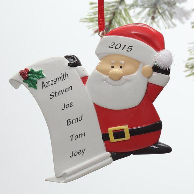 Aerosmith Santa 2015 Ornament