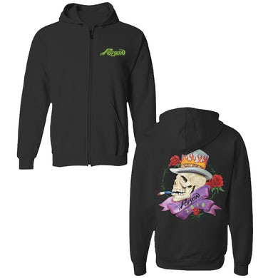 Poison Skull (zip hoodie)