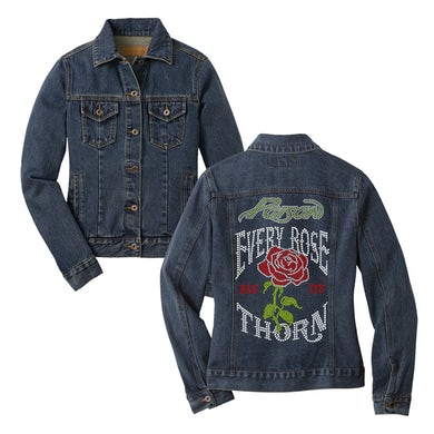 Poison Every Rose Has Its Thorn Denim Jacket