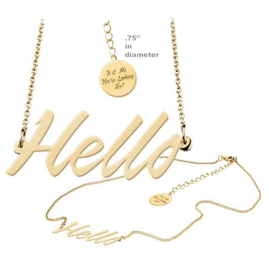 Lionel Richie Hello Necklace
