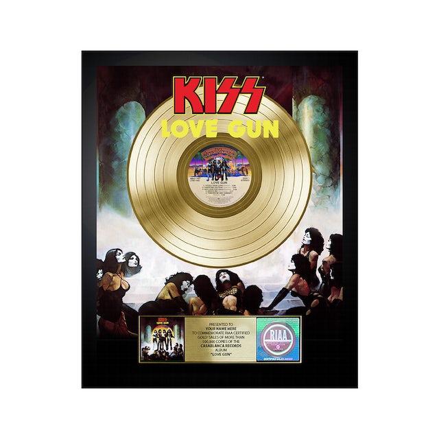 Kiss Personalized Love Gun Gold Record Award