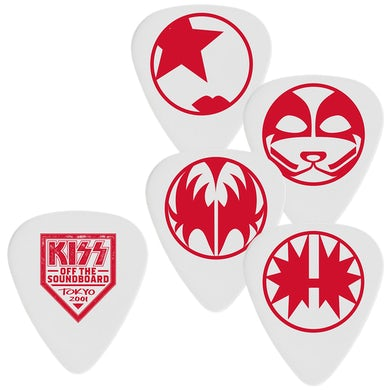 Kiss Off the Soundboard Guitar Pick Set