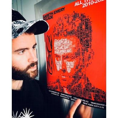 Gareth Emery Signed DECADE Tour Poster