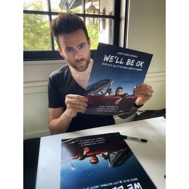 Gareth Emery Signed We'll Be OK Tour Poster