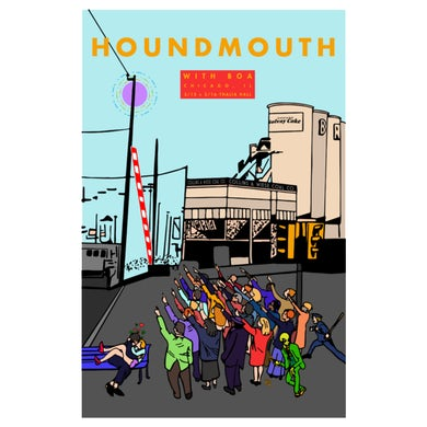 Houndmouth 2019 Chicago Poster