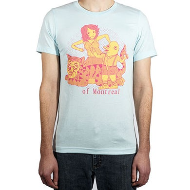 Of Montreal Dolphin-Boy & Friends T-Shirt T-Shirt (Small)