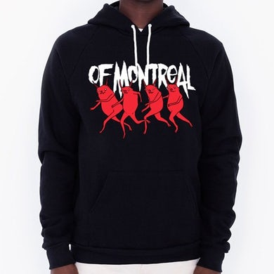 Of Montreal Devils Pullover Hooded Sweatshirt Hooded Sweatshirt (Small)