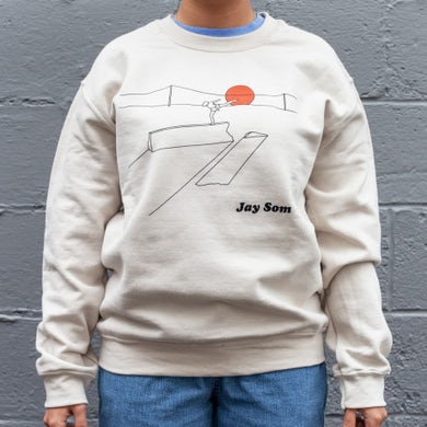 JAY SOM Balance Crew Neck Sweatshirt Crew Neck Sweatshirt (Large)