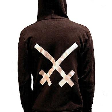 Xiu Xiu Silver Logo Zip-Up Sweatshirt