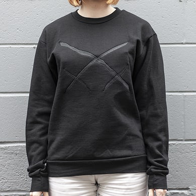 Xiu Xiu Embroidered Logo Crew Neck Sweatshirt
