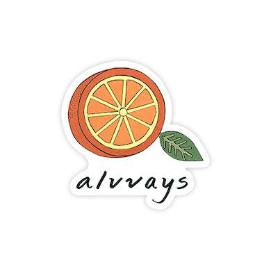 Alvvays Half Orange Sticker