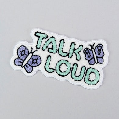"Shy Boys Talk Loud Patch (5"" x 3"")"
