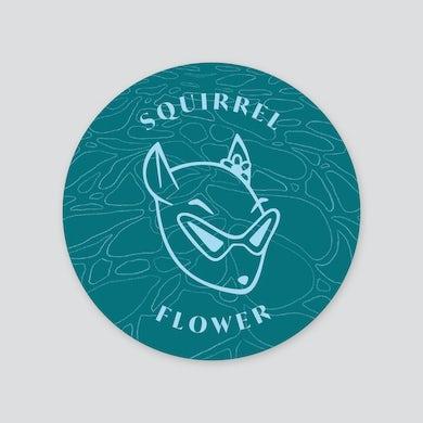 Squirrel Flower Sticker