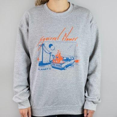 Squirrel Flower Planet (i) Crew Neck Sweatshirt