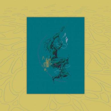 "Squirrel Flower I Was Born Swimming Art Print (9""x12"")"