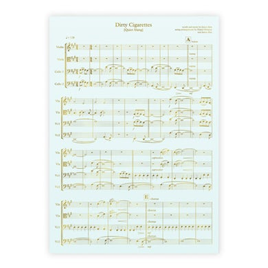 "Beach Slang Sheet Music Silk-Screened Print (18""x24"")"