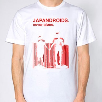 Japandroids Never Alone (White) T-Shirt T-Shirt (Medium)
