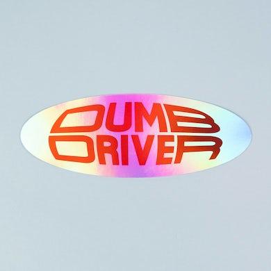 Dumb Driver Holographic Bumper Sticker